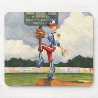 Baseball Pitcher on Mound by Jay Throckmorton Mouse Pad