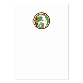 Baseball Pitcher Outfielder Throw Ball Circle Cart Business Card