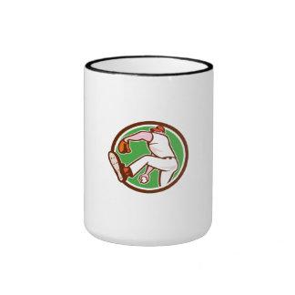 Baseball Pitcher Outfielder Throw Ball Circle Cart Mugs