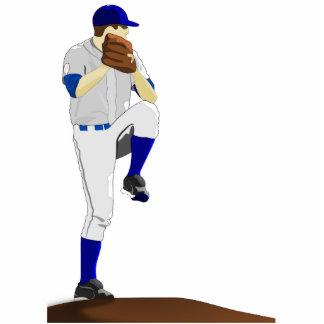 Baseball Pitcher Photosculpture Cutout