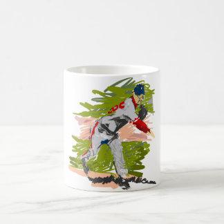 Baseball Pitcher Pitching Coffee Mug