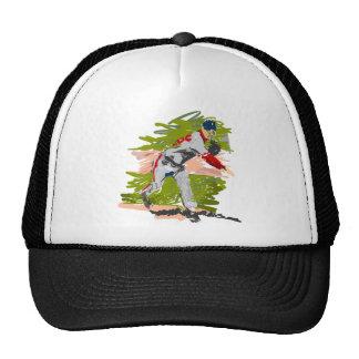Baseball Pitcher Pitching Trucker Hat