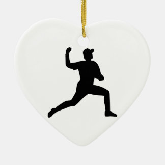 Baseball pitcher player ceramic ornament