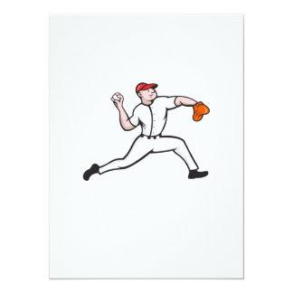 Baseball Pitcher Player Throwing Custom Invitations