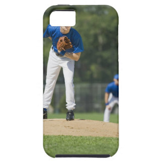Baseball pitcher preparing to pitch ball iPhone SE/5/5s case
