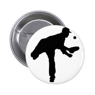 Baseball Pitcher Silhouette Pin