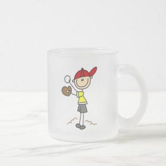 Baseball Pitcher Stick Figure Mug