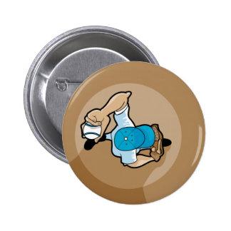 baseball pitchers mound pinback button