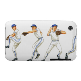 Baseball pitching technique, multiple image Case-Mate iPhone 3 case