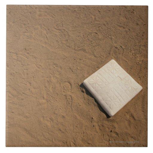 Baseball Plate Large Square Tile