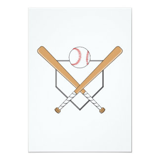 Baseball Plate Logo Card