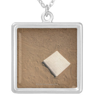 Baseball Plate Silver Plated Necklace
