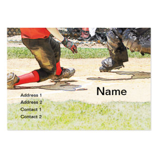 baseball play at homeplate business card