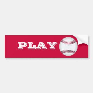 Baseball Play Ball Bumper Sticker