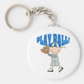 Baseball Play Ball Keychain
