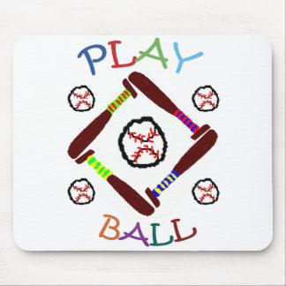 Baseball Play Ball Mousepad