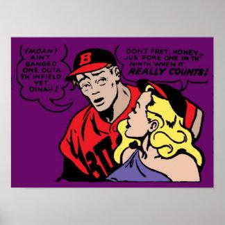 Baseball Playa and his Girl Poster