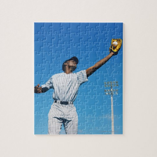 baseball player (16-20) catching ball in jigsaw puzzle
