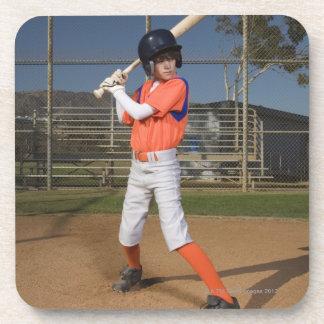 Baseball player 3 beverage coaster