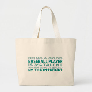 Baseball Player 3% Talent Tote Bag