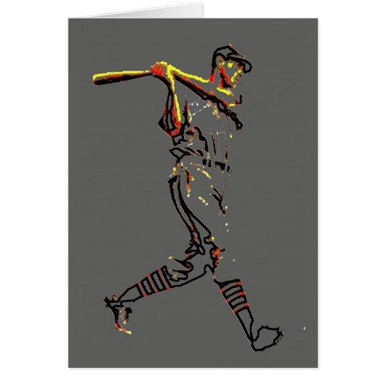 Baseball Player Artwork Card