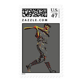 Baseball Player Artwork Postage