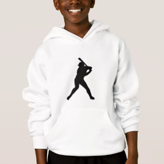 Baseball Player at Bat Hoodie
