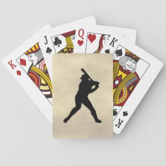 Baseball Player at Bat Playing Cards