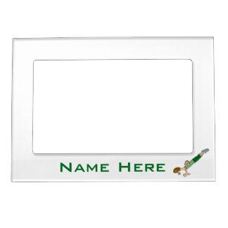 Baseball Player Athlete Cartoon Magnetic Frame