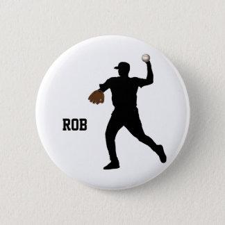 baseball player  badge pinback button