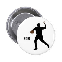 baseball player  badge pinback button
