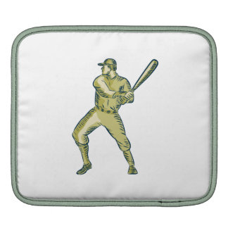 Baseball Player Batter Batting Bat Etching iPad Sleeve