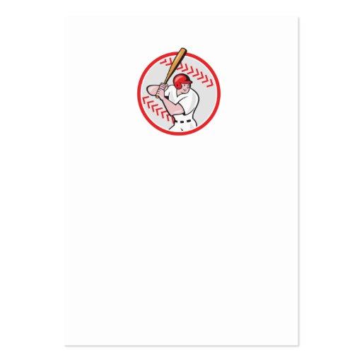 Baseball Player Batting Ball Cartoon Business Card