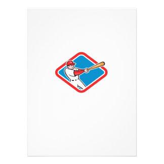 Baseball Player Batting Cartoon Custom Announcements