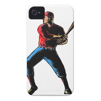 Baseball-player-batting-WC-clr iPhone 4 Case
