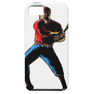 Baseball-player-batting-WC-clr iPhone SE/5/5s Case