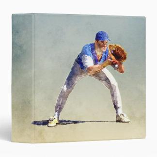 Baseball Player Vinyl Binder