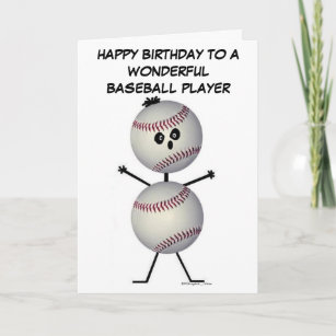 Baseball Player Birthday Card
