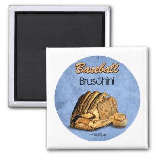 Baseball Player - blue 2 Inch Square Magnet