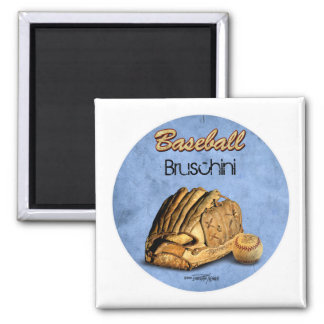 Baseball Player - blue Refrigerator Magnets