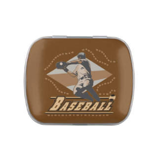 Baseball Player Candy Tins