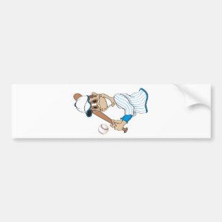 Baseball Player Cartoon Bumper Sticker