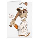 Baseball Player Cartoon Card