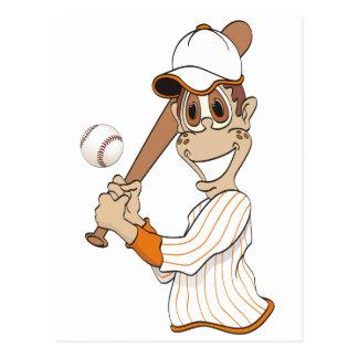 Baseball Player Cartoon Postcard