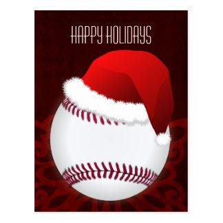 baseball player Christmas Cards Postcard