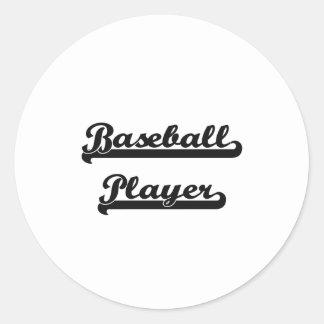 Baseball Player Classic Job Design Classic Round Sticker