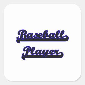Baseball Player Classic Job Design Square Sticker