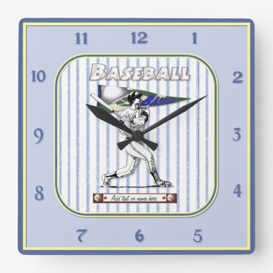 Baseball Player Clock - Customize