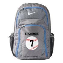 Baseball Player Custom Jersey Number Backpack
