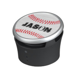 Baseball Player Custom Text Bluetooth Speaker